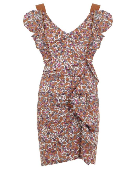 Isabel Marant - Multicolor Etoile Topaz Paisley Floral Print Dress Ochre - Lyst