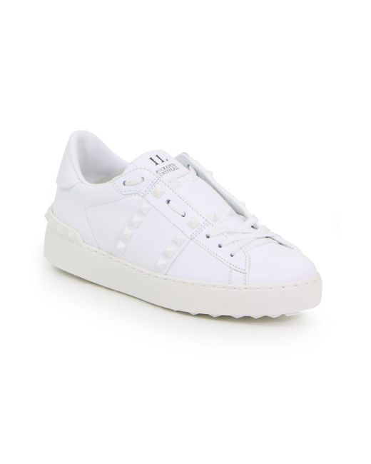 Valentino Garavani Rockstud Untitled Open Sneaker White/white