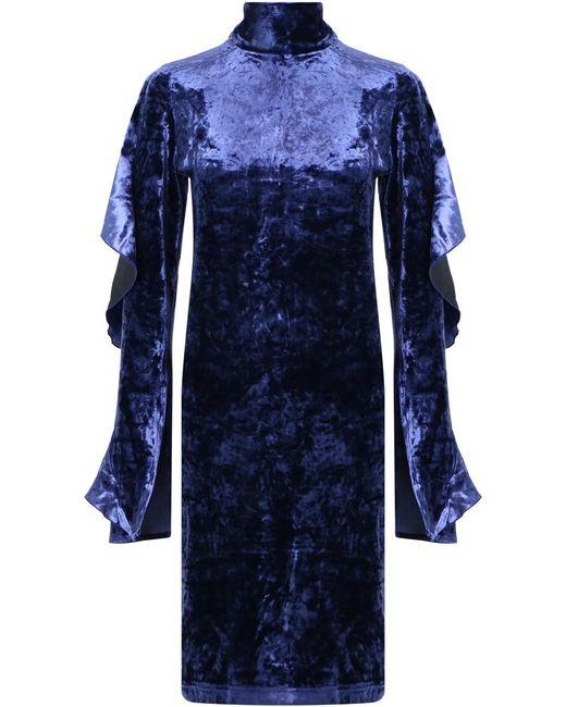 Strateas Carlucci - Orchid Velvet Dress Blue - Lyst