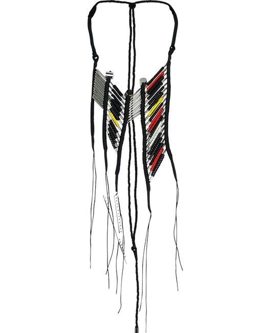 En Inde | Suez Handwound Neckpiece Black/red/yellow | Lyst