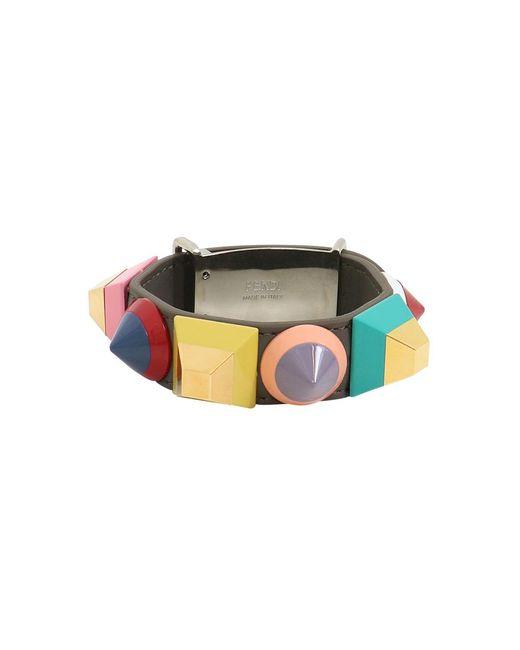 Fendi   Multicolor Geometric Stud Cuff Coal/mutli   Lyst