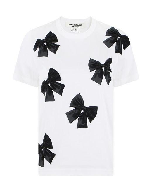Junya Watanabe - S/s Bow Print T-shirt White - Lyst