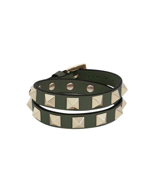 Valentino - Multicolor Rockstud Wrap Leather Cuff Oasis - Lyst