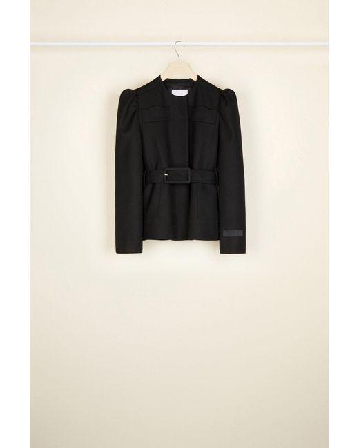 Patou クロップド トリコチン ウールジャケット Black
