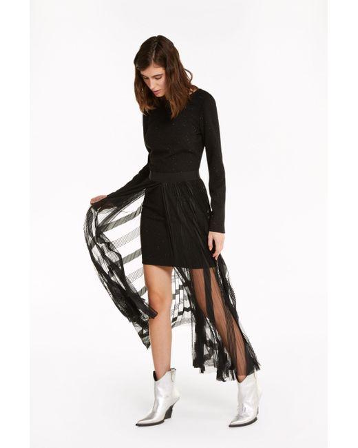 Patrizia Pepe Black Zweilagiges Kleid