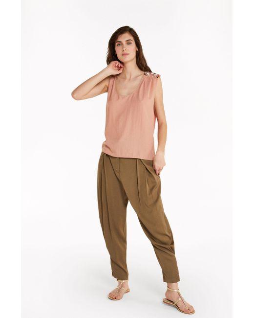 Blusa con drappeggio di Patrizia Pepe in Multicolor