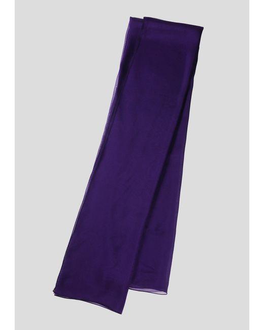 Paula Hian Purple Silk Chiffon Scarf