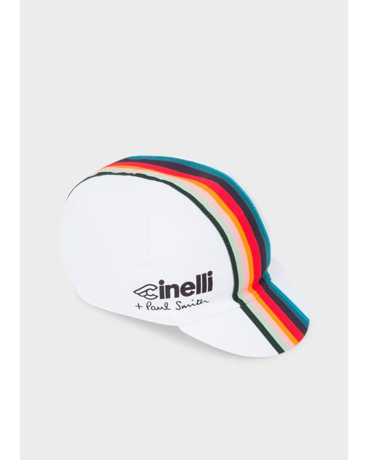 Paul Smith - Cinelli White 'Artist Stripe' Band Cycling Cap for Men - Lyst