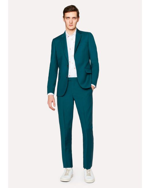 Paul Smith | Blue A Suit To Travel In - Men's Tailored-Fit Petrol Wool-Mohair Suit for Men | Lyst
