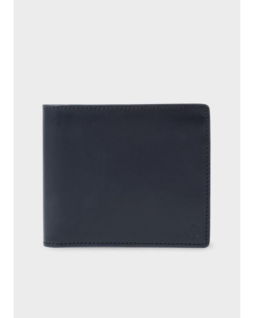 Paul Smith | Blue Men's Navy Leather 'union Jack' Print Interior Billfold Wallet for Men | Lyst