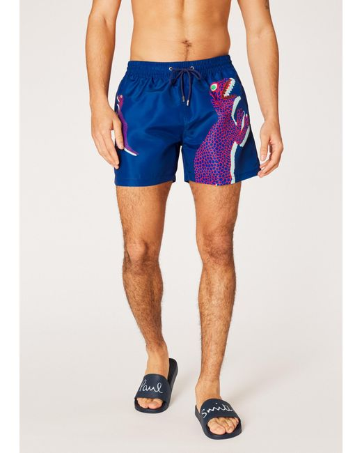 Paul Smith - Blue Men's Martin Parr 'beach' Print Swim Shorts for Men - Lyst