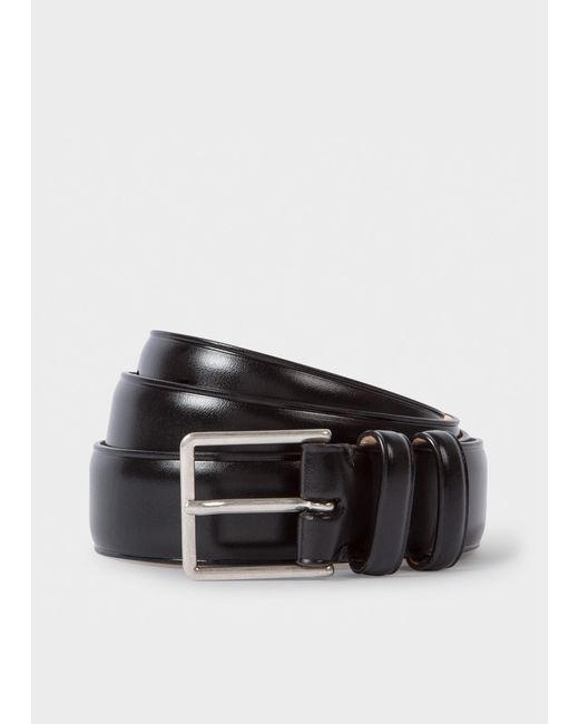 Paul Smith - Black And Signature Stripe Leather Cut-To-Fit Reversible Belt Kit for Men - Lyst