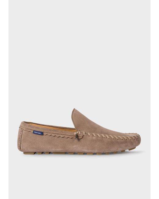 Paul Smith Brown Beige 'dustin' Driving Loafers for men