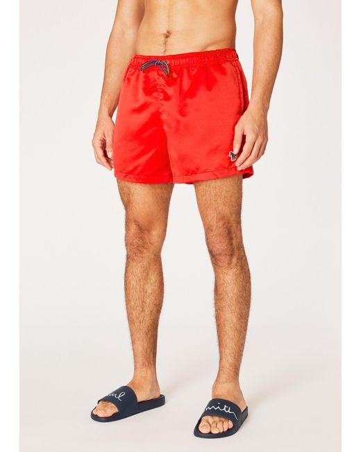 Paul Smith - Red Short De Bain Rouge Logo Zèbre for Men - Lyst