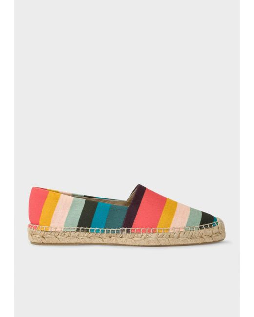 Paul Smith | Multicolor Men's Artist Stripe Cotton-canvas 'sunny' Espadrilles | Lyst