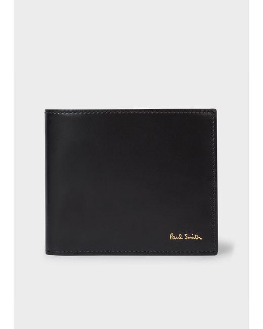 Portefeuille Avec Compartiment À Pièces En Cuir Noir Intérieur 'Signature Stripe' Paul Smith pour homme en coloris Black