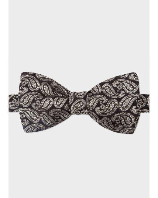 Paul Smith | Men's Black Paisley Silk Bow Tie for Men | Lyst