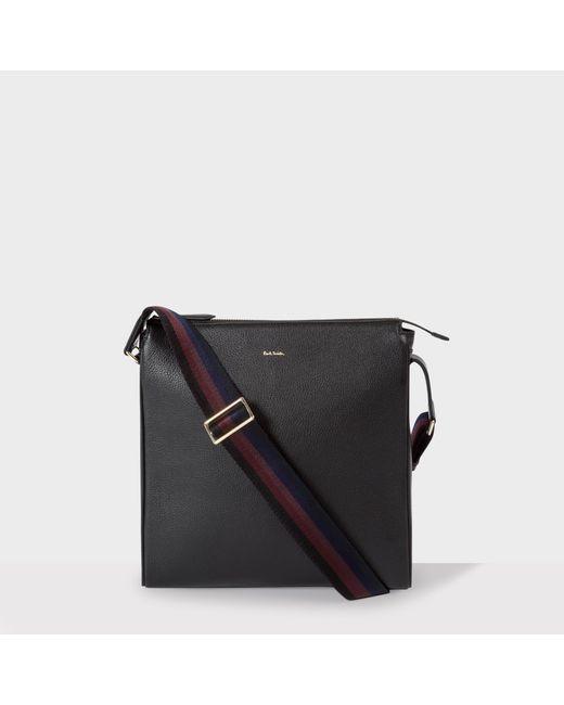 Paul Smith | Men's Black Leather 'city Webbing' Small Cross-body Bag for Men | Lyst