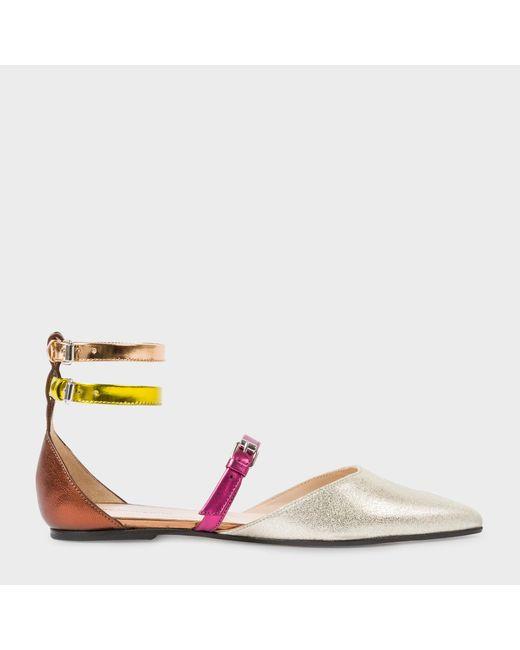 Paul Smith | Multicolor Women's Colour-block Leather 'rosie' Flats | Lyst