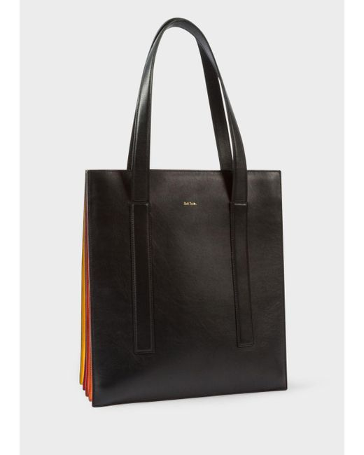 Paul Smith | Women's Black 'concertina' Tote Bag | Lyst