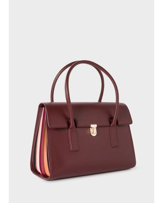 Paul Smith | Multicolor Women's Burgundy 'concertina' Leather Handbag | Lyst