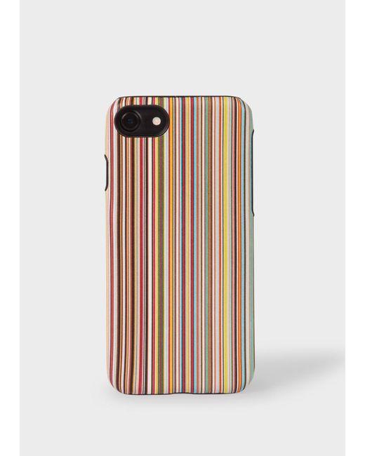 Paul Smith Multicolor Signature Stripe Leather Iphone 7/8 Case