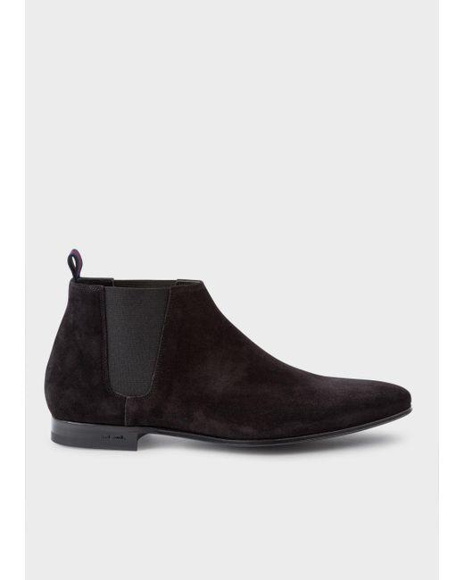 Paul Smith | Men's Black Suede 'marlowe' Chelsea Boots for Men | Lyst