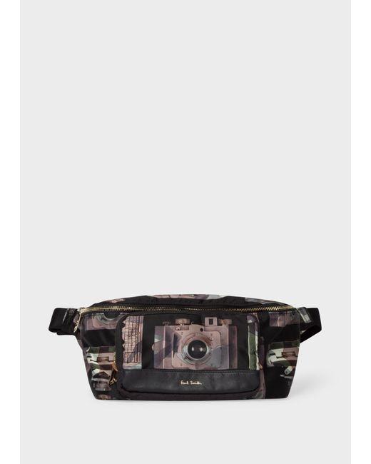Paul Smith - Black Sacoche Banane Homme 'Paul's Camera' En Toile for Men - Lyst
