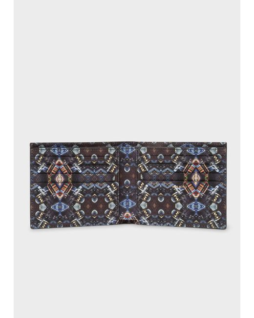 Paul Smith - Black 'Mini Kaleidoscope' Print Interior Billfold Wallet for Men - Lyst