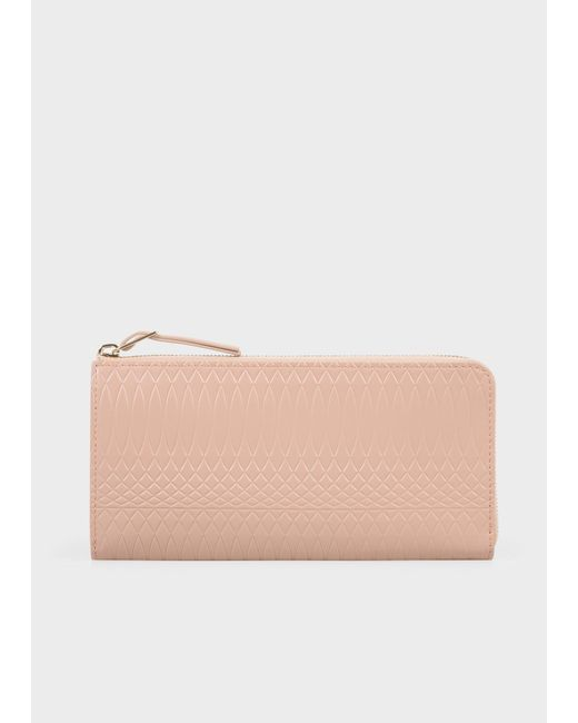 Paul Smith - Multicolor No.9 - Large Powder Pink Leather Zip-Around Wallet - Lyst