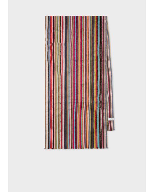 Écharpe À Rayures Texturées Multicolores Paul Smith pour homme