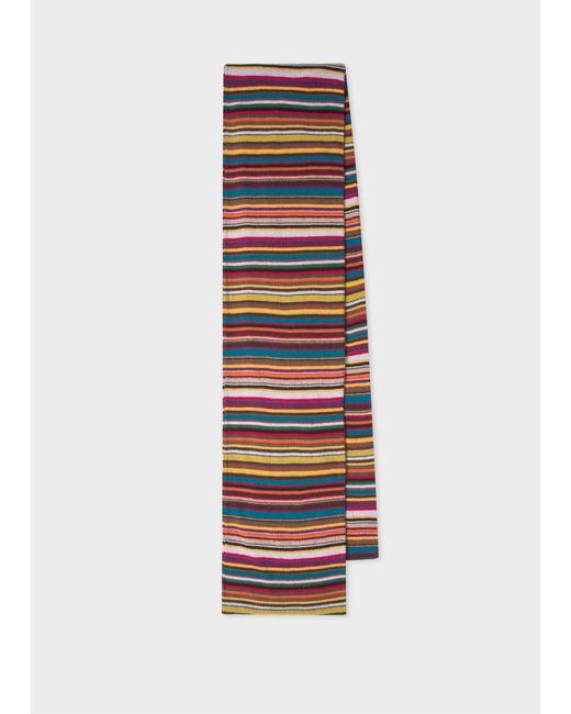 Écharpe 'Signature Stripe' En Laine Mélangée Paul Smith pour homme en coloris Blue
