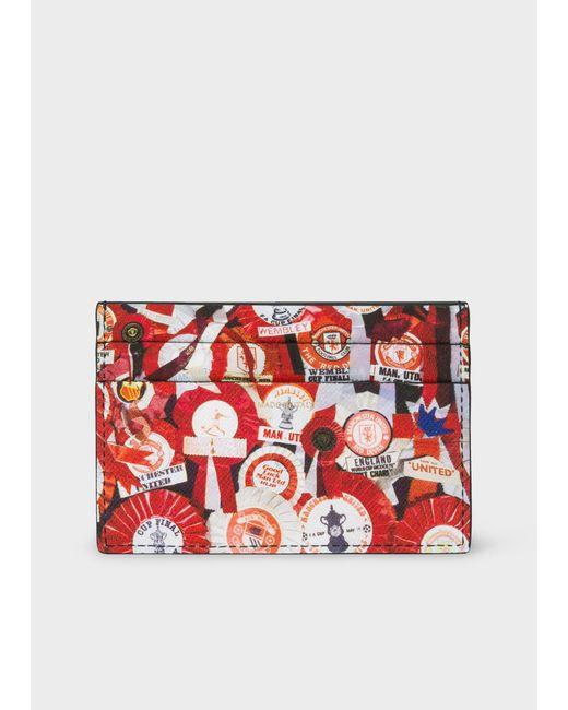 Paul Smith - Multicolor & Manchester United – Porte-cartes Homme 'Vintage Rosette' En Cuir for Men - Lyst