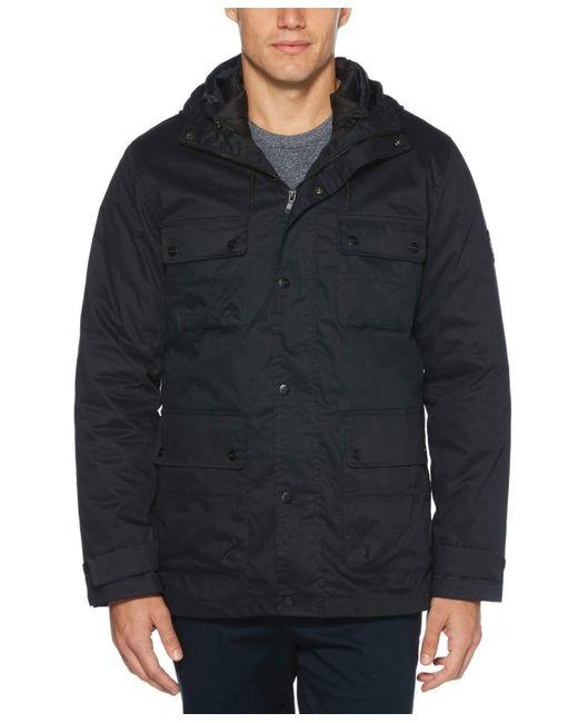 Perry Ellis Blue Utility 3-1 System Jacket for men
