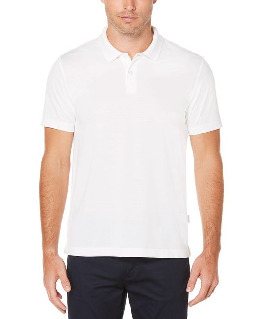 Perry Ellis - White Short Sleeve Micro Stripe Polo for Men - Lyst
