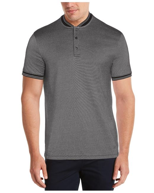 Perry Ellis Black Stripe Henley Shirt for men