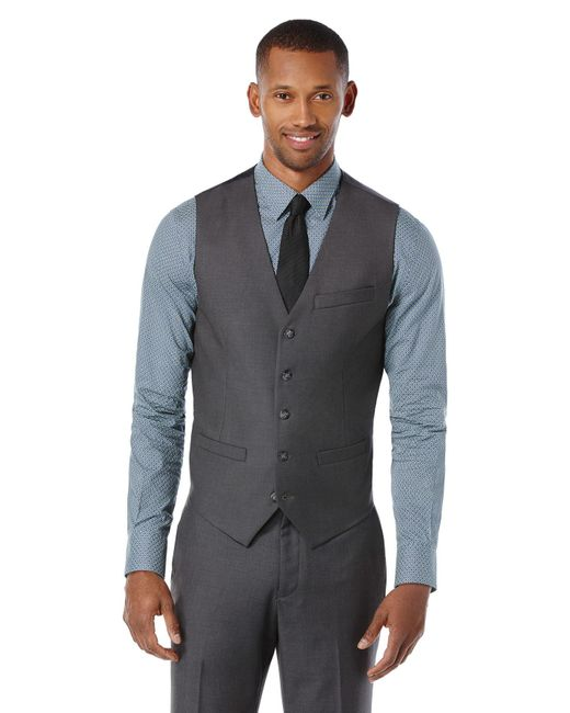 Perry Ellis | Gray Slim Fit Heather Texture Suit Vest for Men | Lyst