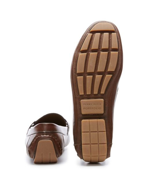 Brown Dress Shoe Slip On Perry Ellis