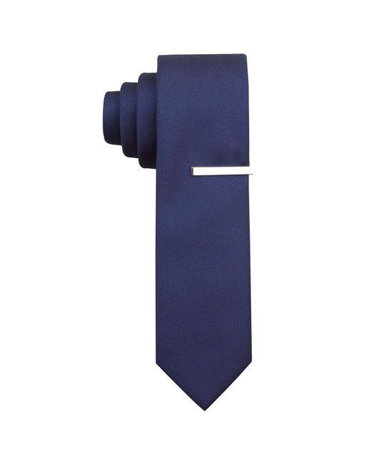 Perry Ellis - Blue Slim Sable Solid Tie for Men - Lyst