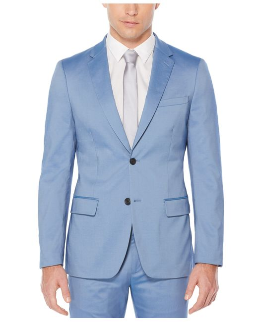 Perry Ellis Blue Very Slim Fit Iridescent Twill Suit Jacket for men