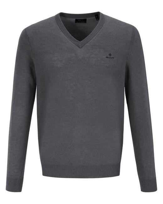 Gant V-pullover in Gray für Herren