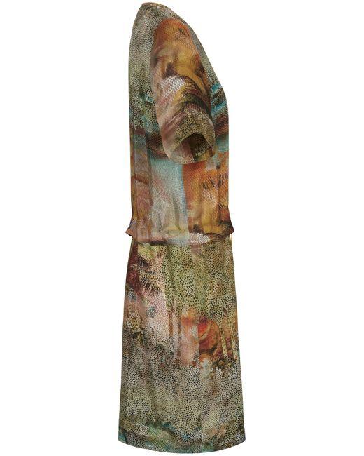 Peter Hahn Green Kleid 1/2-arm