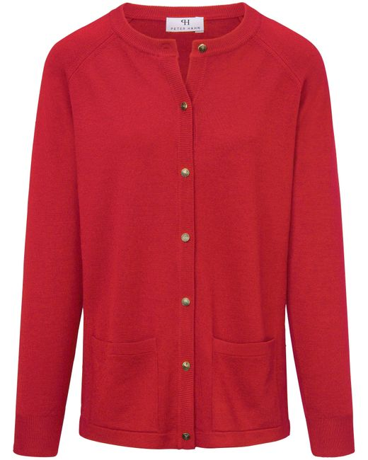 Peter Hahn Red Strickjacke aus 100%schurwolle pure tasmanian wool