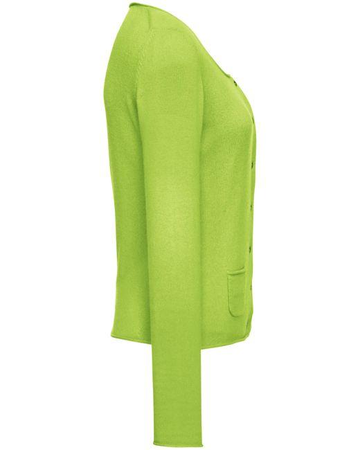 FLUFFY EARS Green Cardigan aus 100 % kaschmir
