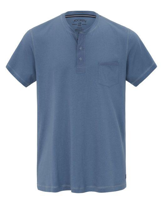 Jockey Schlaf-Shirt blau in Blue für Herren