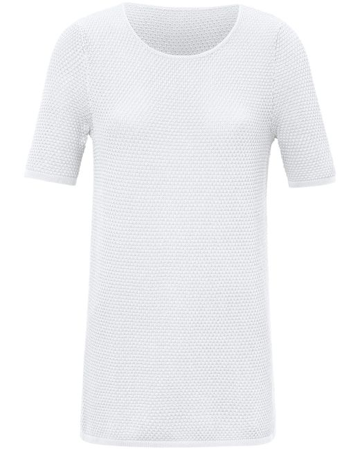 Le pull manches courtes taille 38 Peter Hahn en coloris White