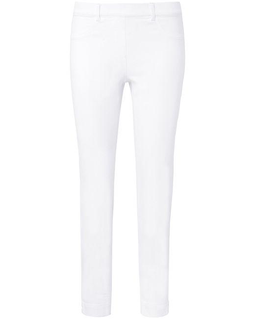 Peter Hahn White Knöchellange Schlupf-Jeans weiss