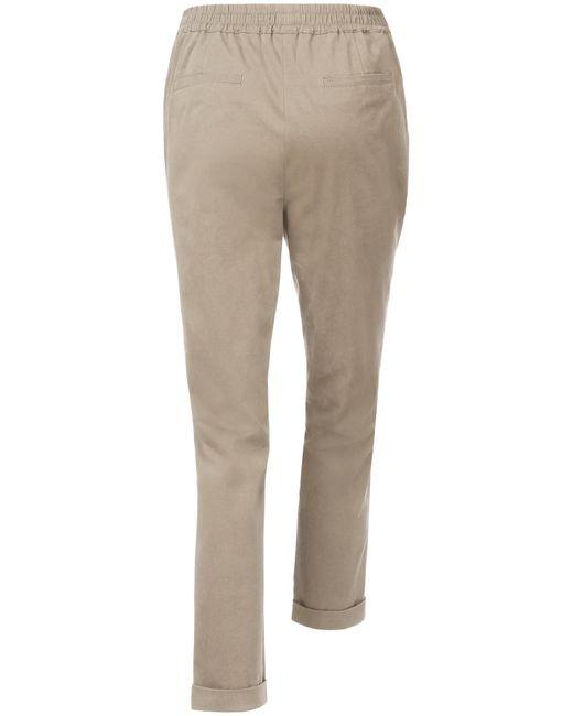 Le pantalon taille élastiquée taille 20 Peter Hahn en coloris Natural