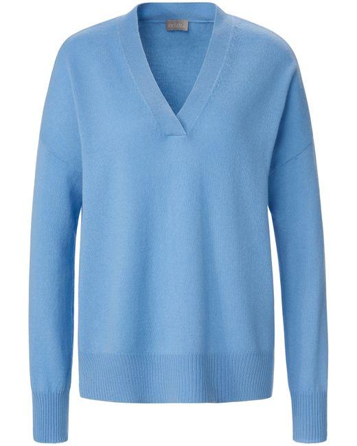 include Blue V-pullover aus 100% kaschmir