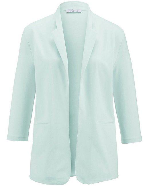 Peter Hahn Blue Jersey-blazer 3/4-arm
